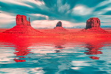 Monument Valley Fantasy In Red...