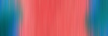 Abstract Horizontal Header Background With Vertical Stripes And Pastel Red, Teal Blue And Gray Gray Colors