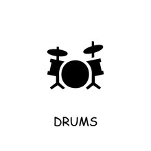 Drums Flat Vector Icon