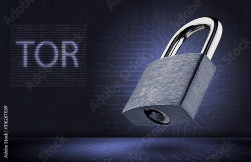 Concept of using anonymous tor network Tapéta, Fotótapéta