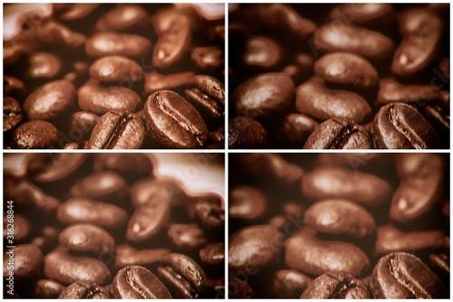 Coffee Beans-quadriptych Wallpaper Mural