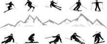 Ski Driver Winter Sport Vector...