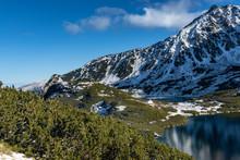 Panorama Na Jezioro Górskie. ...