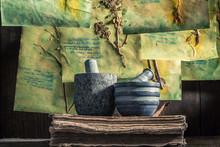 Vintage Herbalist Workshop Wit...