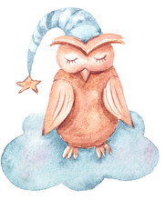 Watercolor Hand Painted Cute D...