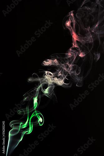Fototapeta  forme astratte create con il fumo