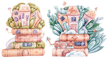 Watercolor Cartoon Cute Fantas...