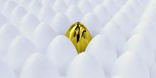 Golden Egg 3D Render