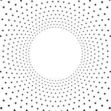 Abstract Circle Of Black Dots....