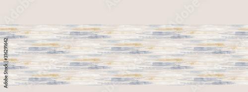Grey french linen vector broken wave stripe border texture seamless pattern Fotobehang