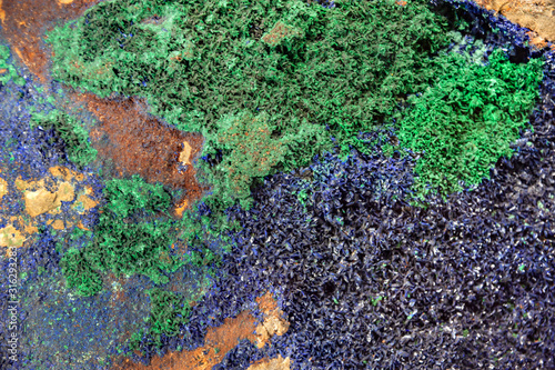 azurite stone multicolored texture background Canvas Print