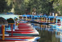 Trajinera Boats In Xochimilco ...