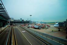 Ramp Area Inside An Airport