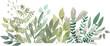 Leinwandbild Motiv watercolor foliage greenery branch abstract floral green blue eucalyptus