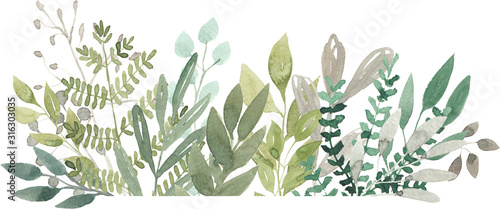 watercolor foliage greenery branch abstract floral green blue eucalyptus