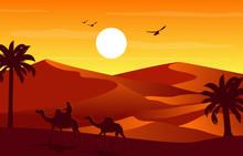 Camel Rider Crossing Vast Dese...