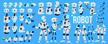 Robot Vector. Animation Set. F...