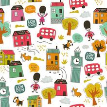 Color Doodle London City  Seam...