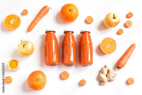 Fototapeta Detox orange drink obraz