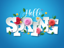 Hello Spring Vector Greetings ...