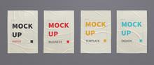 Wrinkled Wet Posters Mockups O...