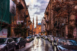 Fototapeta Uliczki - Street view with mosque