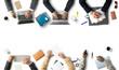Leinwanddruck Bild - Business concept, group of businessmen at work, meeting and teamwork