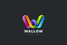 Letter W Logo Design Vector Te...