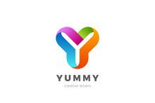 Letter Y Logo Design Vector Te...