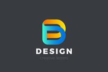 Letter D Logo Design Vector Te...