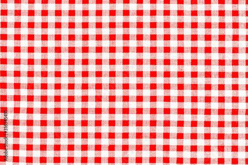 Fotografering toile Vichy à petits carreaux rouges