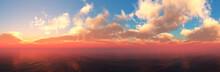 Beautiful Sea Sunset, Panorama...