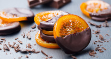 Candied Orange Slices In Choco...