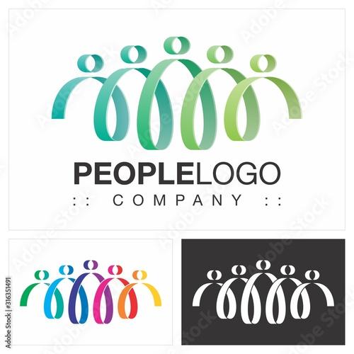 People (Family, Friends, Team, Group) Vector Symbol Company (Association) Logo (Logotype) Canvas Print