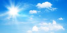 Sunny Natural Background, Blue...