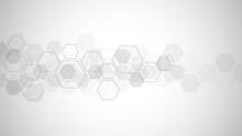 Hexagons Pattern. Geometric Ab...