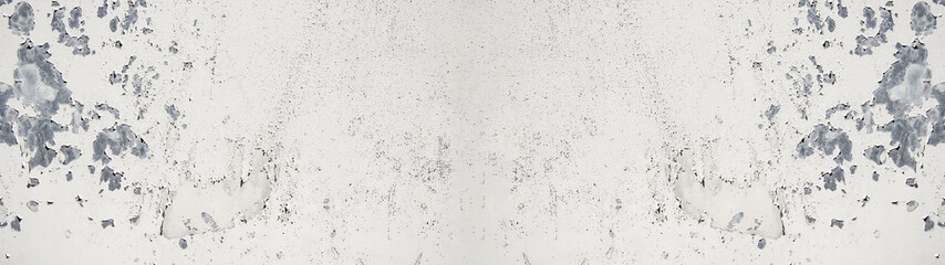 white painted exfoliated metal wall texture, with space for text, background panorama banner