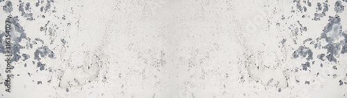 Obraz white painted exfoliated metal wall texture, with space for text, background panorama banner - fototapety do salonu