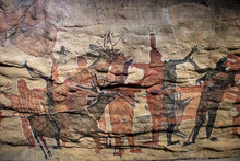 Petroglyph Cave Painting Reproduction In Mexico