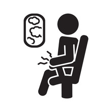 Aerophobia Icon. Fear Of Flying Icon. Vector.