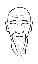 Vector Illustration Of Old Man...