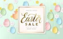 Golden Easter Sale Background ...