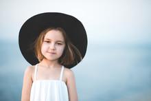 Smiling Child Girl 4-5 Year Ol...