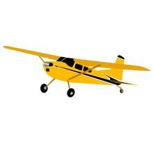 Yellow Plane On A White Backgr...