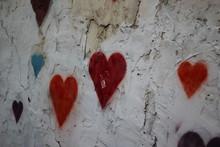 Colorful Heart Graffiti On A B...