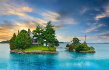 A House On An Island On A Lake...