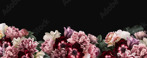 Fotografia Floral banner, header with copy space