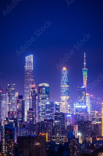 obraz PCV night view in city of Guangzhou China