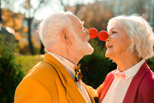 Happy Old Man And Woman With R...