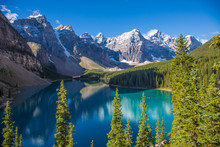 Moraine Lake In The Valley Of ...
